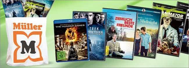 Auch DVDs und Blu-rays kauft ihr bei Müller