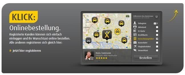 Mit mytaxi schnell ein Taxi finden