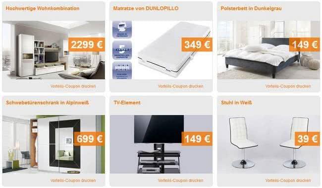 Online Angebote bei Möbel Kraft