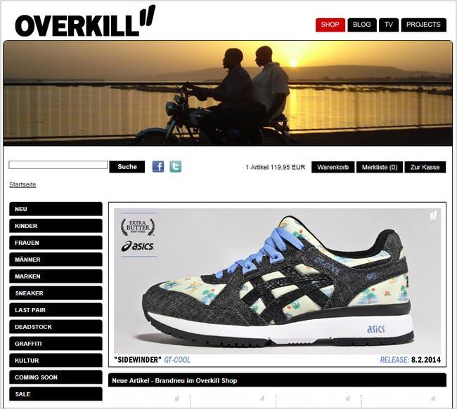Bei Overkill findet ihr coole Streetwear, Schuhe und vieles mehr