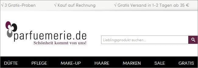 Düfte und Pflegeprodukte bei parfuemerie.de günstig einkaufen