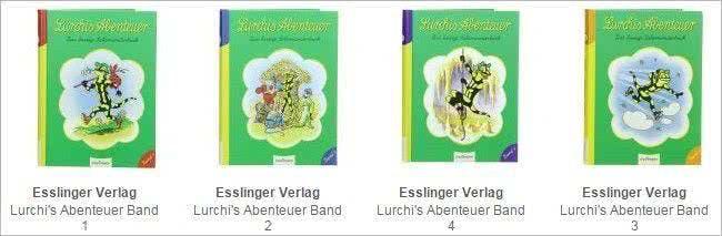 Auch die Bücher von Lurchi, dem Salamander-Maskottchen des Unternehmens, kannst du online kaufen