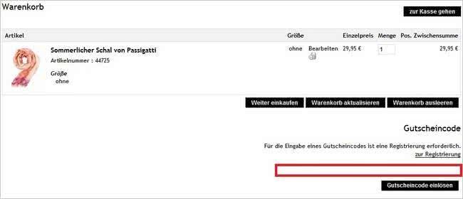 So wird ein Gutscheincode bei APART eingelöst