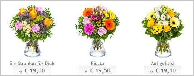 Sträuße unter 20 Euro bei BlumenOnline