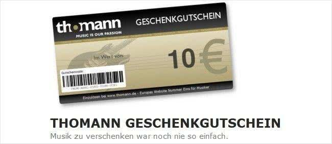 Mit Thomann-Geschenkgutscheinen Freude bereiten