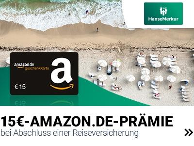 15€-Prämie für Reiseversicherung
