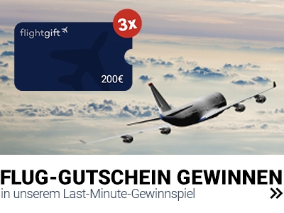 Flug-Gutschein gewinnen