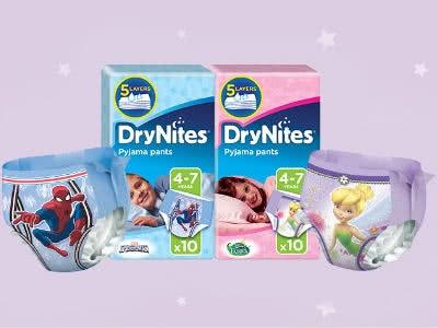DryNites Pyjama-Nachthöschen gratis bestellen