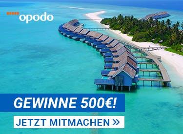500€ Reisegutschein zu gewinnen