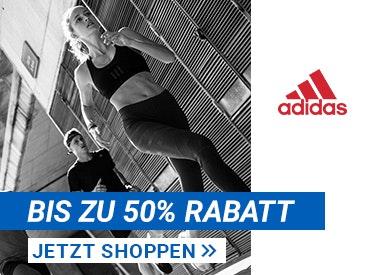 Bis zu 50% Rabatt bei Adidas