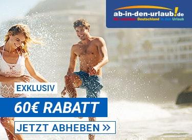 60€ Rabatt auf deinen Urlaub