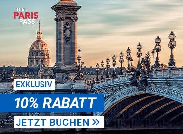10% Rabatt auf Paris Pass