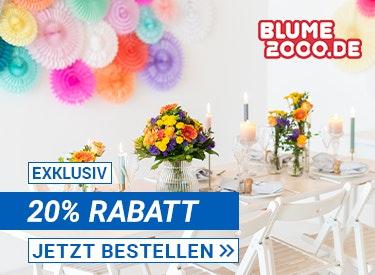 20% Rabatt auf Blumen