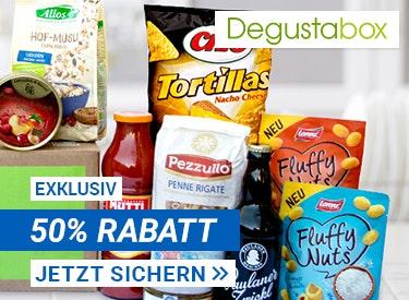50% Rabatt bei Degustabox