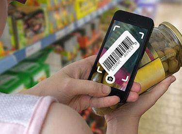 Einkauf scannen