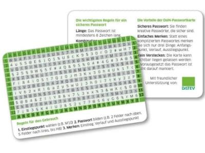 Für Sicherheit im Internet: Passwortkarte kostenlos bestellen