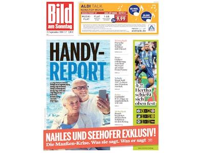 "13x ""Bild am Sonntag"" für 27,30€ + 25€ Prämie + 5€-Shoppingbon"