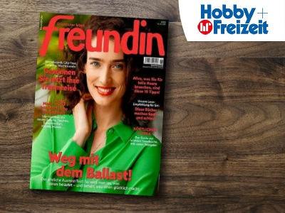 """Zeitschrift """"Freundin"""" 1 Jahr für 80,80€ + 80€ Prämie"""