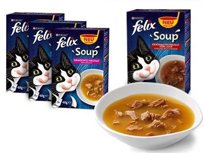 Leckerbissen für deine Katze: FELIX Soup gratis bestellen