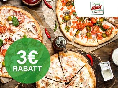 Damit wirst du richtig satt: 3€ Rabatt auf deine Pizza-Max-Bestellung