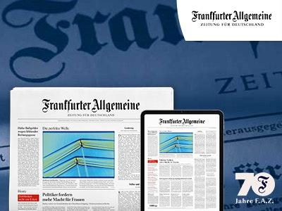 70% Rabatt auf die Frankfurter Allgemeine Zeitung + Gratis-Prämie