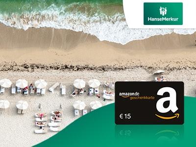 15€ Amazon.de-Gutschein zur Reiseversicherung der HanseMerkur