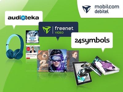 freenet Video, AUDITEKA oder 24symbols testen + 5€-Amazon.de-Gutschein
