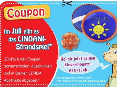 In deiner LINDA Apotheke: Gratis-Strandspiel für dein Kind