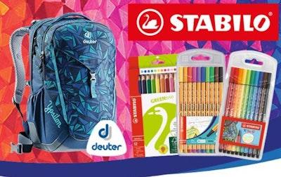 Gewinne einen Deuter Schulrucksack gefüllt mit STABILO Schulartikeln