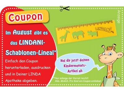 In deiner LINDA Apotheke: Schablonen-Lineal gratis für dein Kind