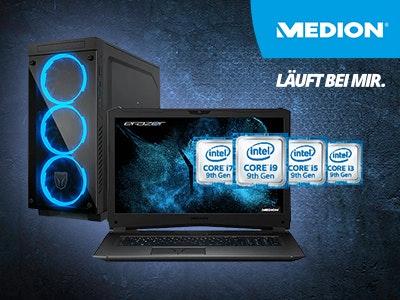 MEDION – 50€ Rabatt auf Gaming PCs und Notebooks