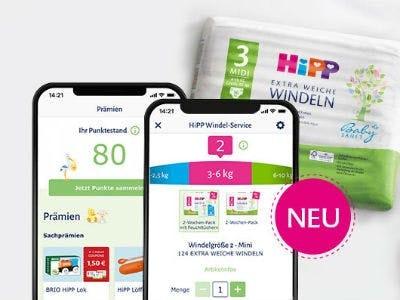 HiPP Windel App downloaden und Prämien sichern