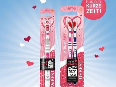 2x Dr.Best Zahnbürste (Love-Edition) kaufen + Gratis-Kinoticket erhalten