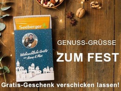 3 Seeberger Produkte kaufen - Gratis Geschenkbox verschicken lassen