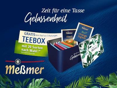 Meßmer Tee kaufen - Teebox gratis als Prämie!