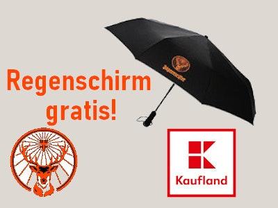 3 Flaschen Jägermeister kaufen - Regenschirm gratis als Prämie!