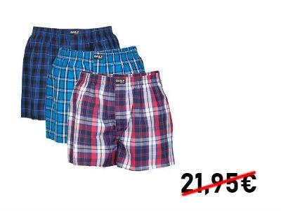 Daily Underwear Herren Webboxer 3er Pack für 15,45€