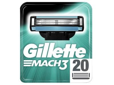 20x Gillette Mach3 Rasierklingen für nur 23,39€