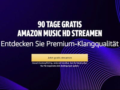 3 Monate Amazon Music HD gratis (für Neukunden)