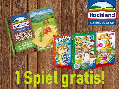 NEU! 3 x Sandwich-Scheiben von Hochland - 1 Spiel gratis!