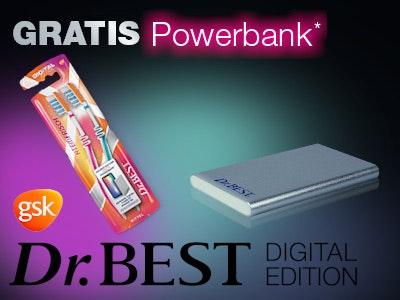 2 Dr.Best Aktionsprodukte mit Aktionscode kaufen - Powerbank erhalten!