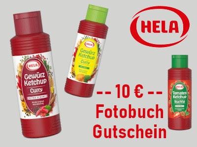 NEU! HELA Ketchup kaufen - 10-€-Pixum-Fotobuch-Gutschein