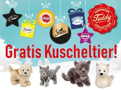 Gratis Kuscheltier beim Kauf der Aktionsprodukte!