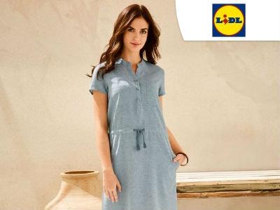 Damen Leinen-Kleid für nur 12,94€ bei Lidl