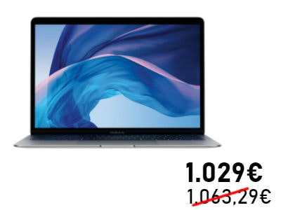 "Apple MacBook Air Retina 13"": nur 1.029€"