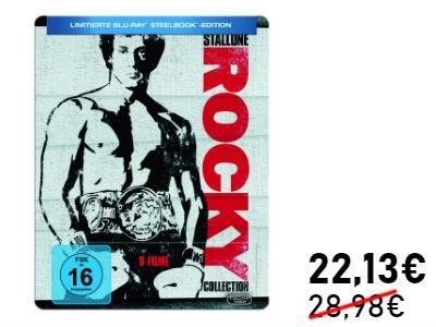 Nur 22,13€: Rocky Collection 1-6 (Blu-ray) Steelbook Ed.