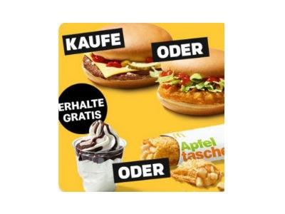 Gratis Apfeltasche beim Kauf von Chicken-/Cheeseburger