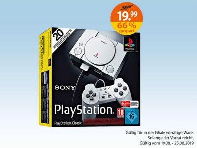 Nur 19,99€: PlayStation Classic (In Müller Filialen)
