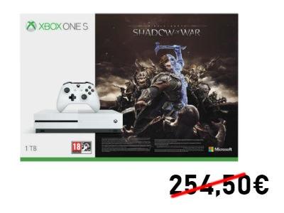 Nur 199€: Xbox One S 1TB + Mittelerde: Schatten des Krieges