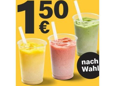 1x Iced Fruit Smoothie regular  für 1,50€ (McDonalds App)